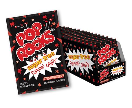 Pop Rocks Sugar Free Strawberry Flavor