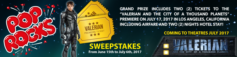 Pop Rocks Valerian contest
