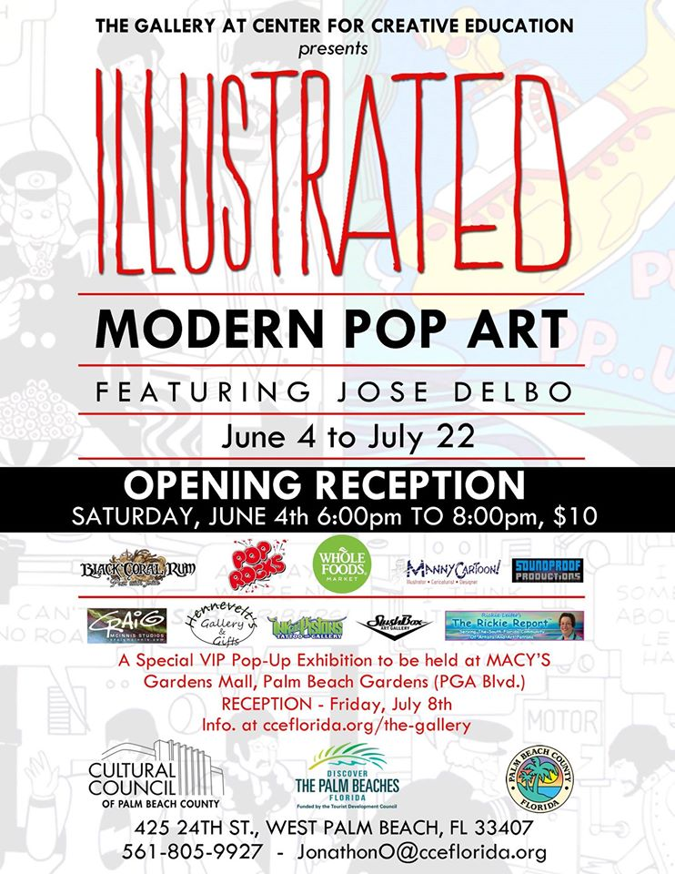The poster of the opening reception for the Illustrated Exhibition.