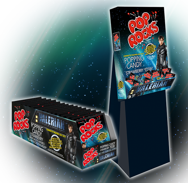 Pop Rocks license Valerian for Sweets & Snacks Expo
