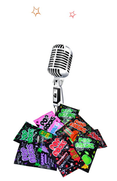 Radio stations for pop Rocks promotion