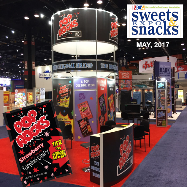 Pop Rocks stand in the sweets & snacks expo