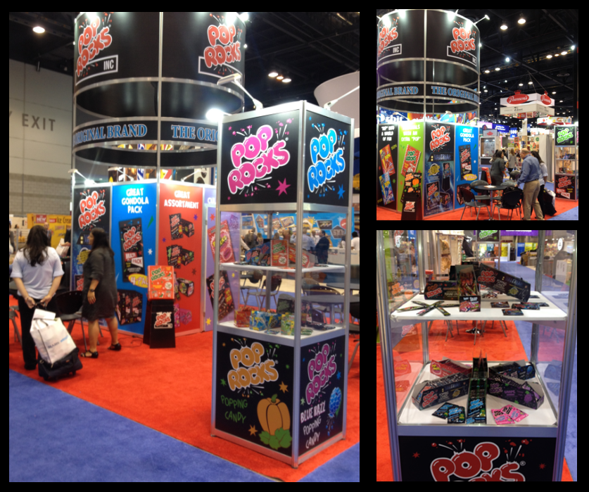 Collage Pop Rocks stand in the sweets & snacks expo