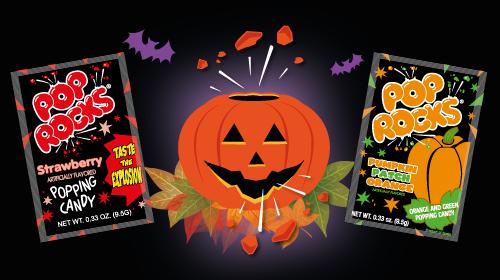 Pop Rocks Pumpkin patch for Halloween
