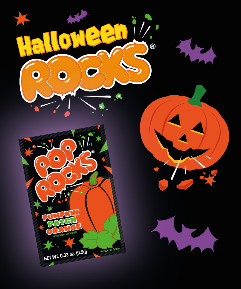 Halloween rocks with Pop Rocks Pumpkin Patch