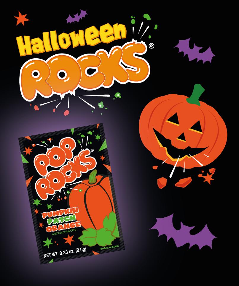 halloween rocks with pop rocks pumpkin patch