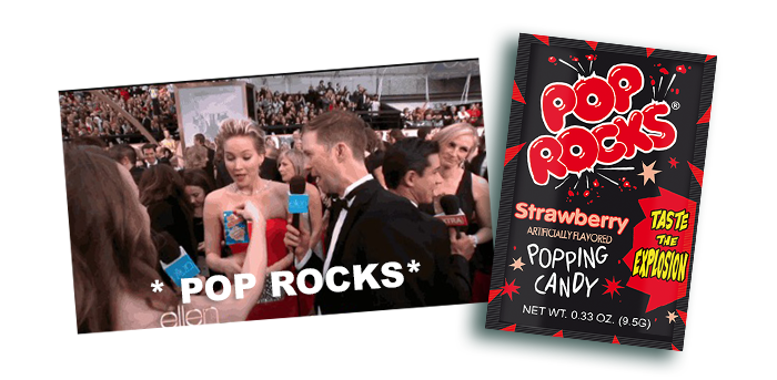 Pop Rocks in the red carpet