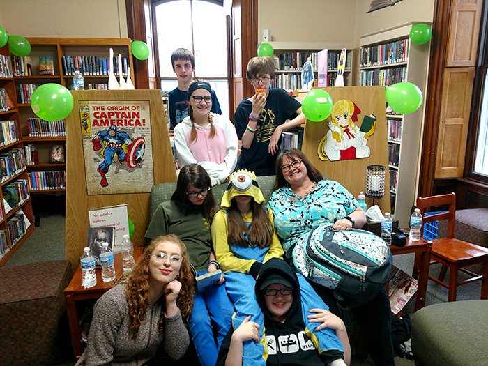Kids having fun at the Ionia Library
