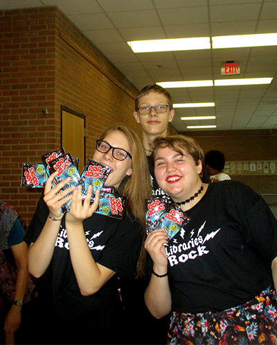 Teens enjoying Pop Rocks